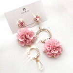 [W] MURMURER Pink Rose Earrings 1set