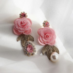 [W] MURMURER Heartracing Earrings 1set