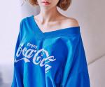 [W] CHUU Enjoy Cocacola Sweatshirt 1ea