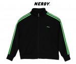 [W] NERDY NY Track Top Black / Green 1ea