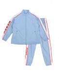 [W] NERDY Oriental Track Top & Pants Sky Blue 1set