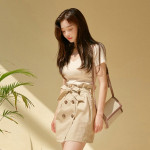[W] CHUU 'Nice To Meet You' top+skirt 1Set