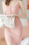 [W] ATTRANGS Pearl Button Knit Dress 1ea