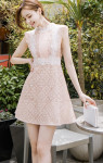 [W] ATTRANGS Sleeveless Pattern Lace Dress 1ea