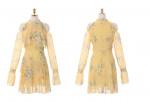[W] ATTRANGS Chiffon Ruffle Dress With Shoulder Detail 1ea