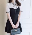 [W] ATTRANGS Short Sleeve Flare Dress 1ea