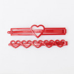 [W] CHUU Lovely Heart Pointed Hairpin 1Set