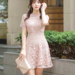 [W] ATTRANGS Pink Lace Dress 1ea