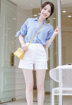 [W] ATTRANGS Daily Short Pants 1ea
