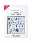 [W] DASHINGDIVA Expressions DKEX_05 - Blue Brush 1ea