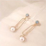 [W] ROMANGSHU Pearl Drop Earrings 1set
