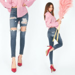 [W] D&B Dabagirl Destroyed Vintage Skinny Jeans 1ea