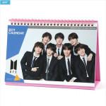[W] BTS Desk Calendar 2019-2020 + Sticket Set