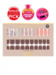 [W] DASHING DIVA Gloss Gel Nail Strip DGNP_35 - Rose Chocolate