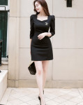 [W] ATTRANGS op5701 Slim Line dress with feminine and sophisticated design 1ea