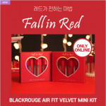 [W] BLACK ROUGE Air Fit Mini Kit - Fall in Red 2g * 3ea