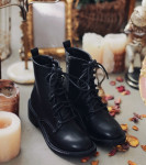 [W] MILKCOCOA Daily Black walker boots (4.5cm)