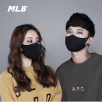 [MLB] Fashion Mask(Black L size) 1Pcs