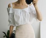[W] CHUU Off Shoulder Blouse