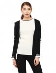 [W] SSFSHOP Black Silk Blended V Line Cardigan
