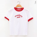 [W] CHUU Strawberry Milk Strawberry Addiction TEE