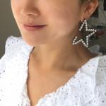 [W] THEORO Half Star Earring