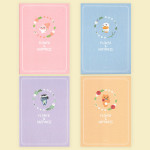 [W] KAKAO FRIENDS Flower Slim Note M