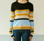 [W] OiOi Color Combination Knit Top