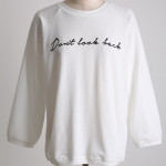 [W] CHLODMANON Back Zipper Up Lettering TEE (Ivory)