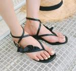 [W] DABAGIRL Ruffle Strap Sandal (245mm)