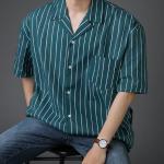 [R] Stripe/KARA/Shirts/SHORT SLEEVES T-SHIRTS/Man Shirt 1ea
