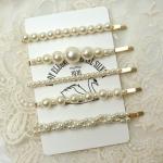 [R] Pearl Hairpin Set 5ea
