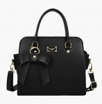 [R] Black Ribbon Hand Bag 1ea