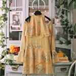 [R] Romantic Rose Halter Neck Dress 1ea