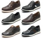[R] Men's Natural Cowhide Boat Shoes Sneakers Slip-on Looper 1ea