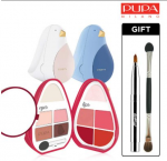 [R] PUPA [Limited Edition] Bird Kit 2 Lip + Eye Palette (+ Gold Remover Brush + Double Sided Brush) 10.7g
