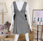 [R] DCOLLECT Sleeveless Dress With Ribbon (ST3OP05) #Black, size 66