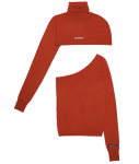 [R] ODD ONE OUT Two Way Turtle Neck_ORANGE