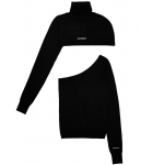 [R] ODD ONE OUT Two Way Turtle Neck_BLACK
