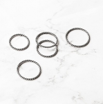 [R] W.CONCEPT ONEENOUGH Five Twisted rings 1ea