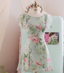 [R] MILKCOCOA Amelie Dress line.MINT 1ea