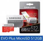 [R] SAMSUNG Micro SD EVO Plus 512GB + Adapter U3 4K New