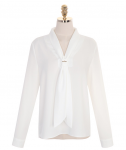 [R] ATTRANGS bs4159 Tie Blouse #Ivory 1ea