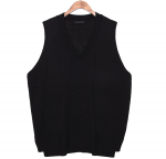 [R] COMMON UNIQUE 7 color Slit Unbal Knit Vest 1ea