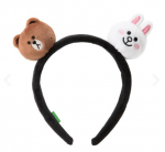[R] Brown / Cony Face Doll Hair Band 1ea