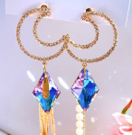 [R] MURMURER Night Sky Moon Glory Drop Bold Earrings 1set