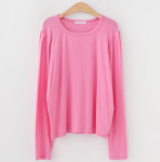 [R] J STYLE Linelon Tencelspan Shirring Puff T-shirt 1ea