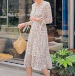 [R] HOT PING Wind Flower Long Dress 1ea