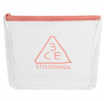 STYLENANDA 3CE Clear Trapeze Pouch # Pink Beige 1ea
