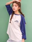[R] Raglan Back Donut T-Shirt 1ea / Navy / Free